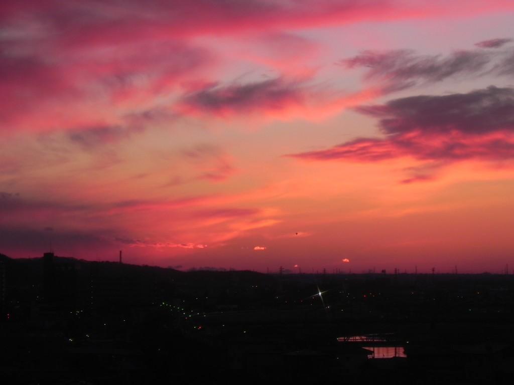 2011年「日の出前の足利市」