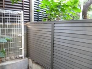 新規フェンス1段目