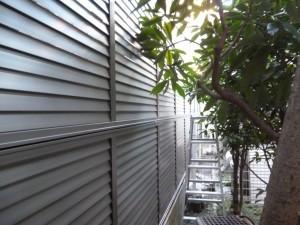 新規フェンス2段目施工