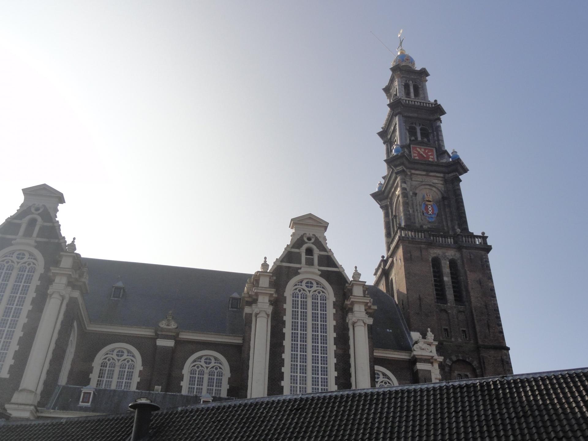 オランダのアンネ・フランクの家に隣接する西教会