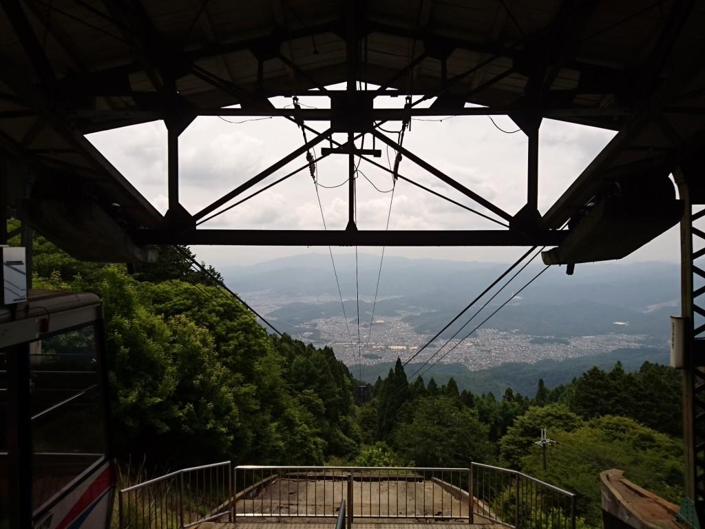 ロープウェイから眺め 比叡山頂