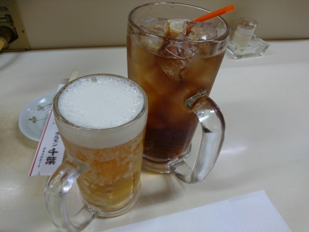 大ジョッキの烏龍茶は、、、300円