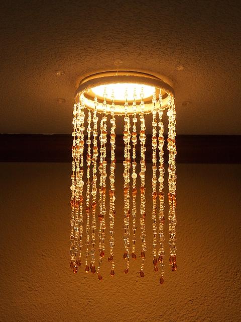 ビーズのランプシェード (1)