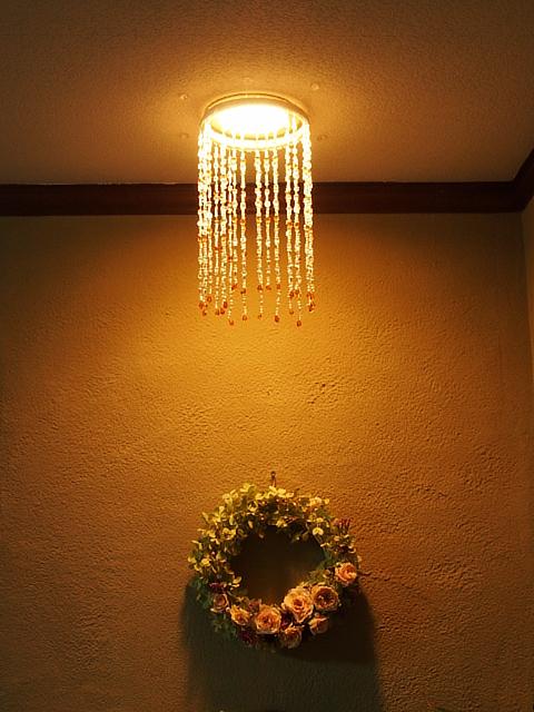 ビーズのランプシェード (2)