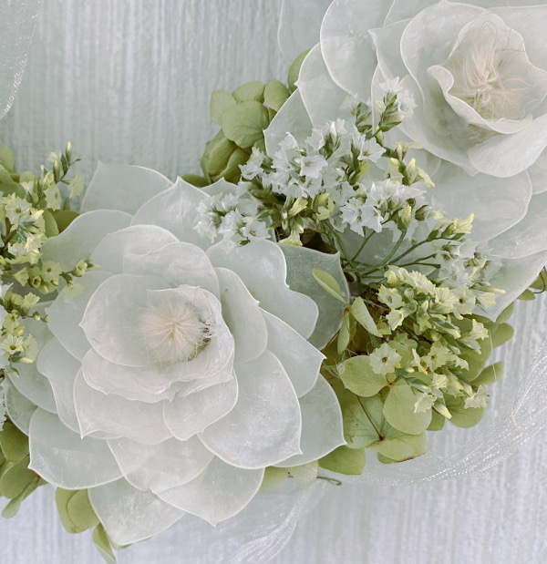 ルナリア漂白で作ったお花