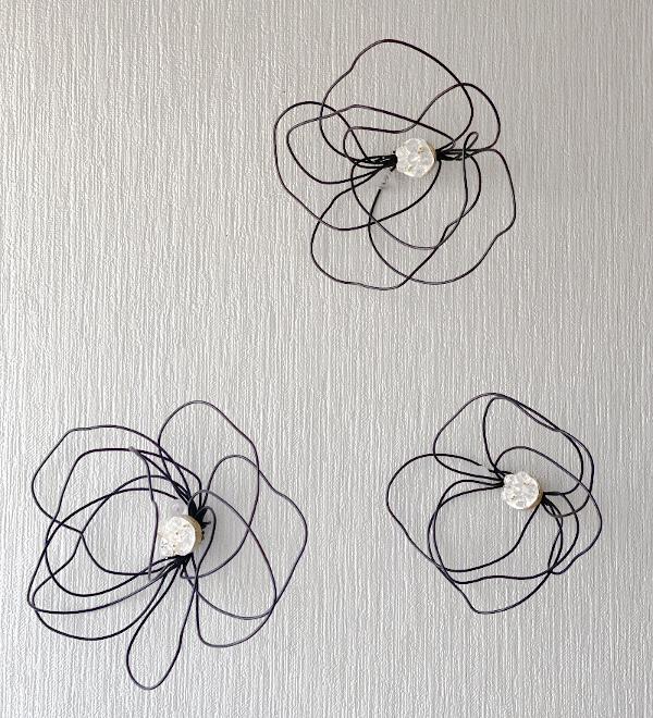 ワイヤーで作ったお花