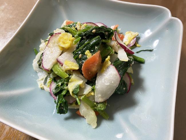 冬野菜のゴマ味噌マヨ和え