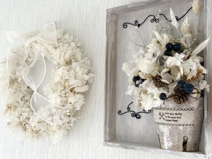 漂白アナベルと花材詰め合わせ