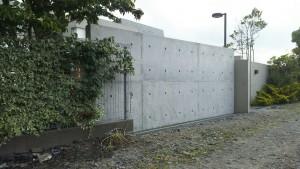 打放しコンクリート塀