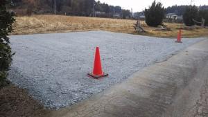 砕石駐車場
