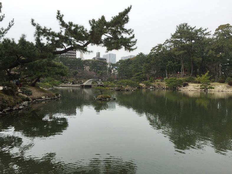 縮景式庭園