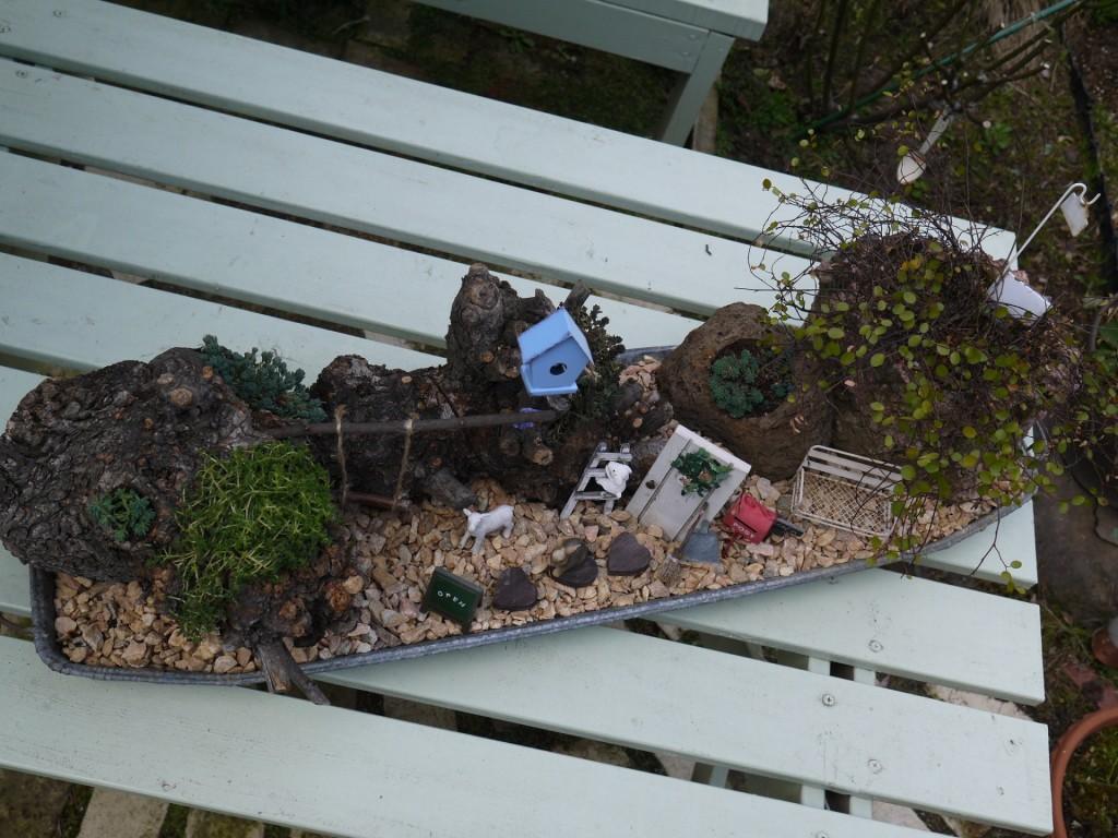 木株のお庭1