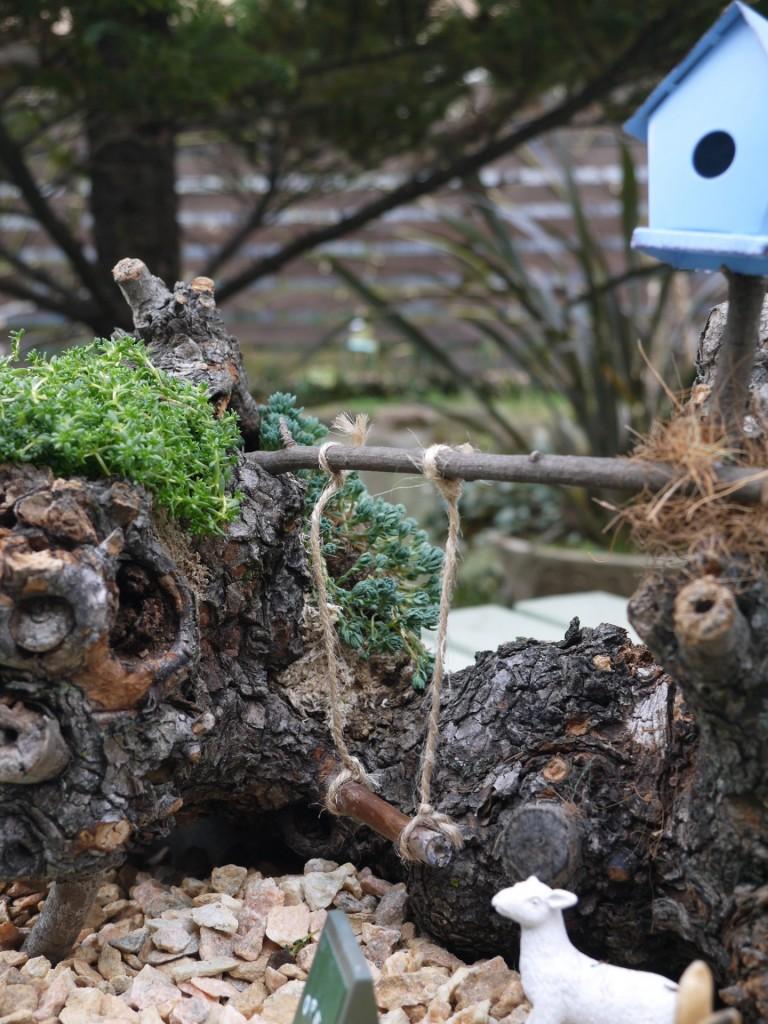 木株のお庭2