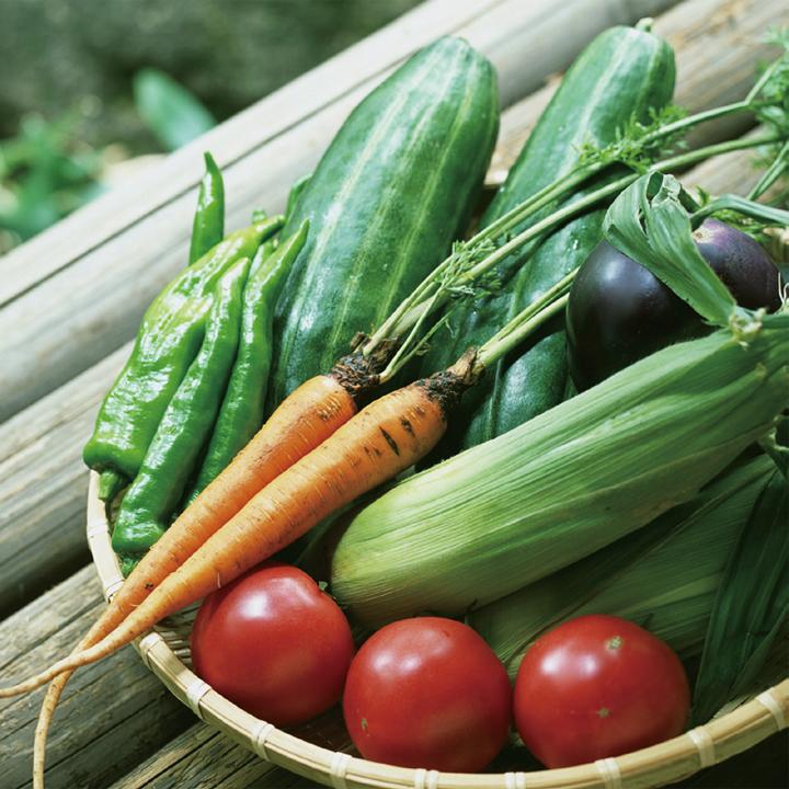夏に採れた野菜をご近所で分け合うのも縁側です。