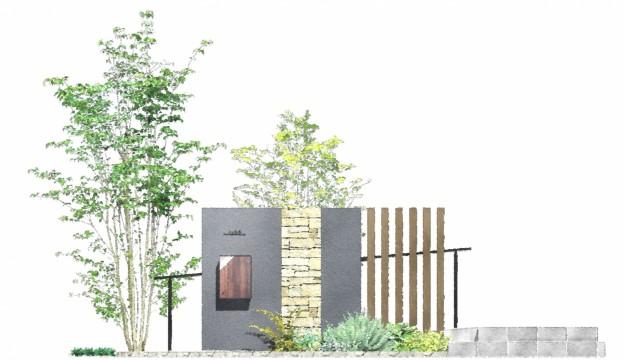 水戸市 K様 門壁イメージ
