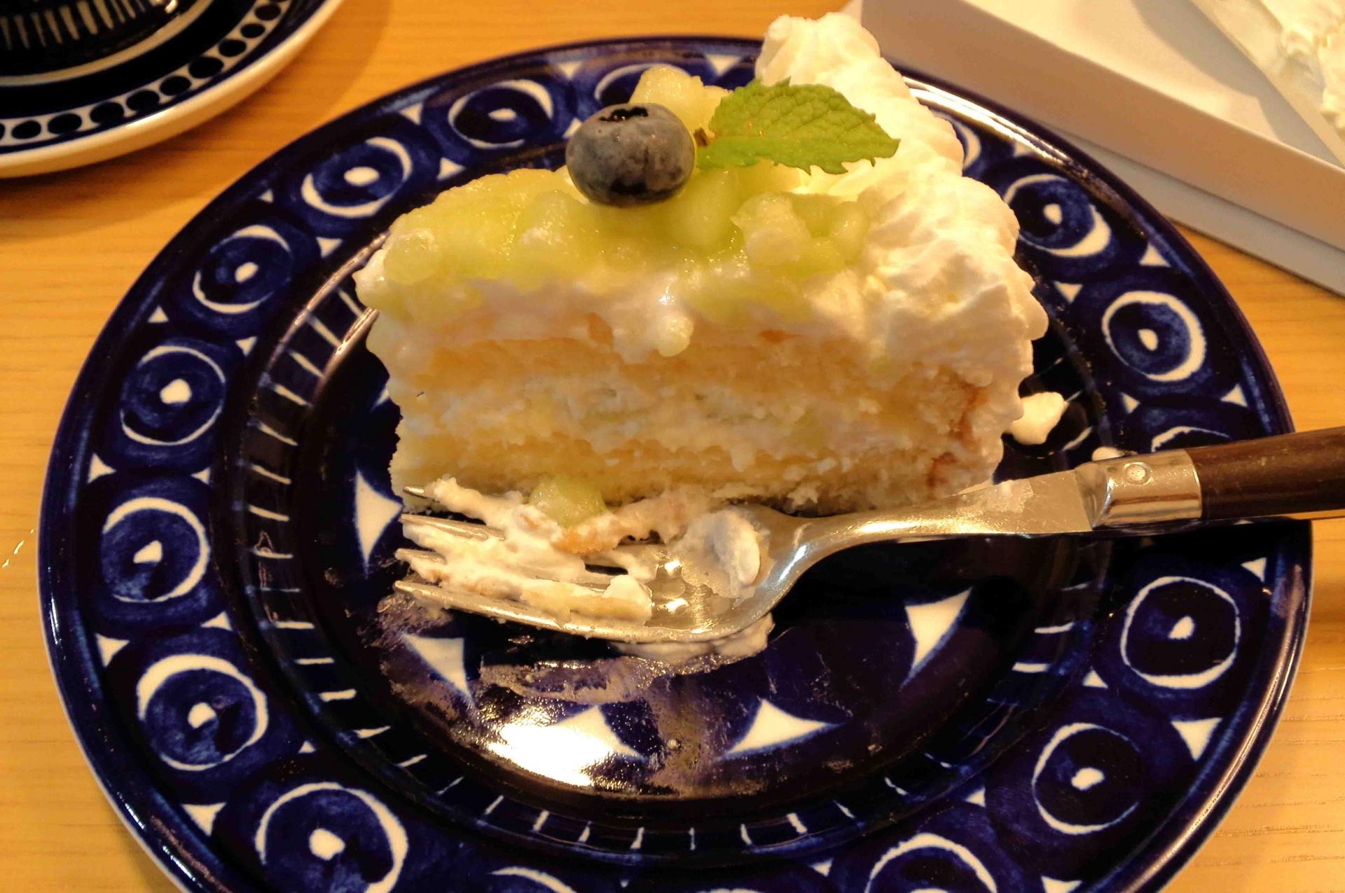 農家のケーキ屋さんガーデン・スタッフのメロンショートケーキ