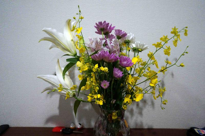 玄関に飾ってあった切り花