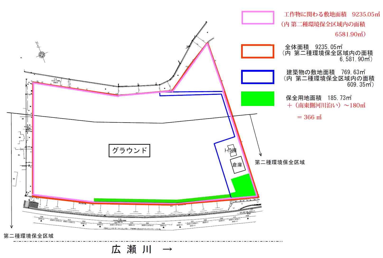 図4 敷地構成図(仙台市に情報開示を求めた資料をもとに作成)