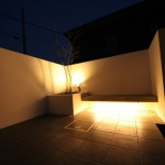 エクステリア工房 清光園 プライバシー空間 夜の空間