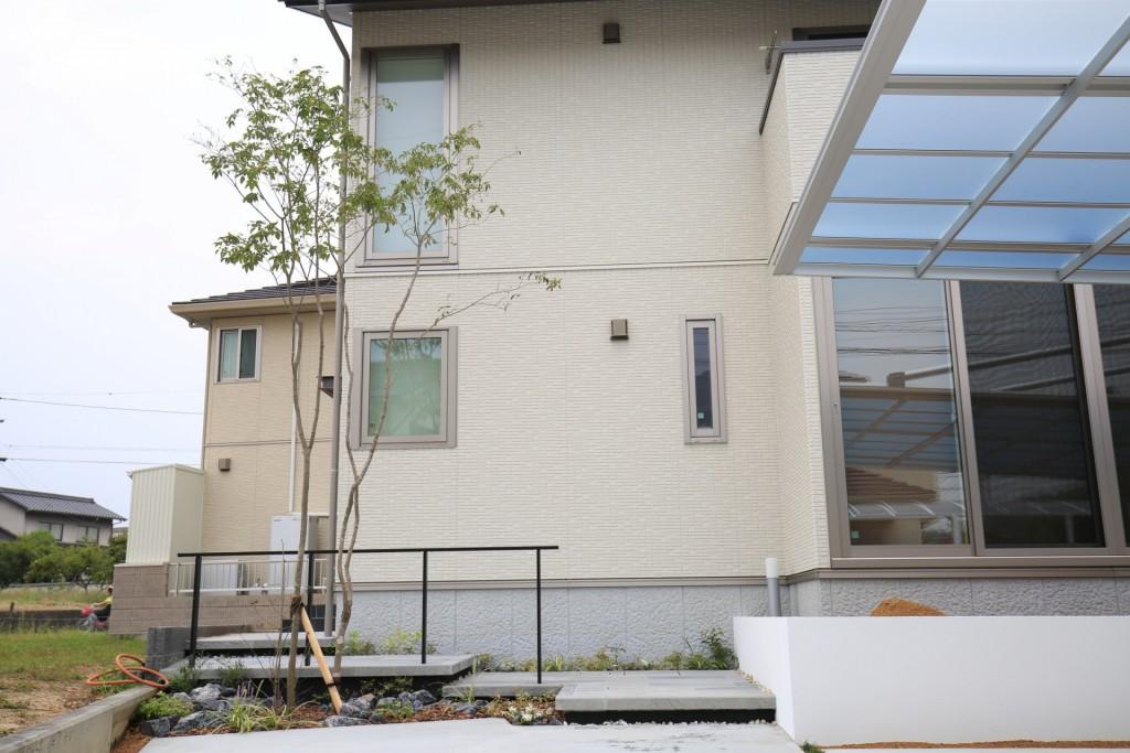 シンプルモダン外構 岡山・倉敷 外構写真