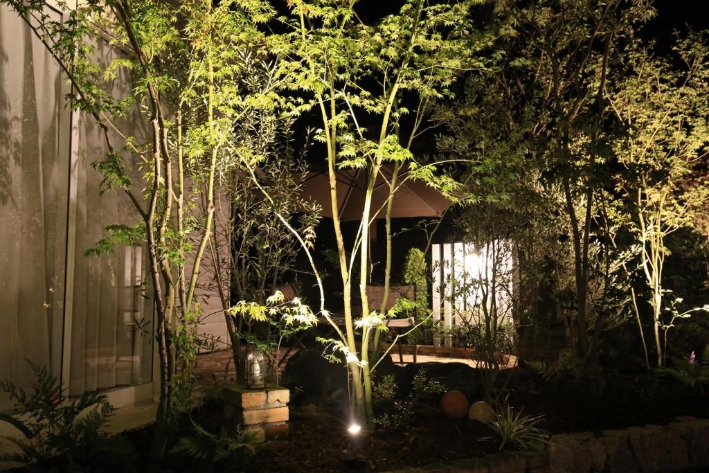 照明:美彩で彩るお庭