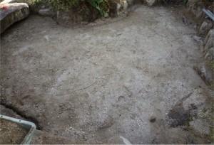 広島池作り枯山水