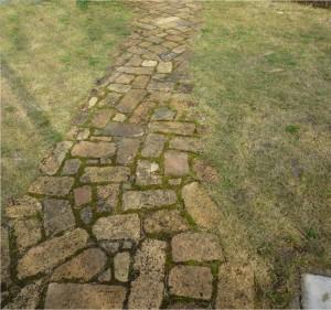 広島、岩国市で簡単なお庭造り、園路工事は塩田剪庭園