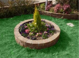 広島市で庭造り、鉢植え作業は塩田剪庭園