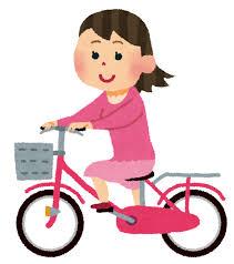 bicycling girl