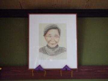 弊社社長が描いた母の自画像