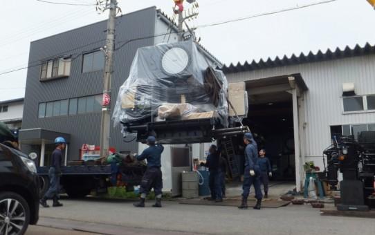 大阪機工のマシニングセンタ搬入