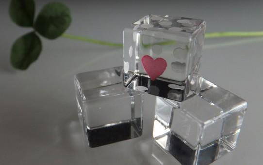 石英ガラスサイコロ 一の目ハー