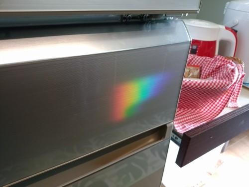 冷蔵庫に虹