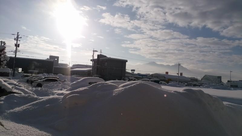 大寒波のあとの雪景色
