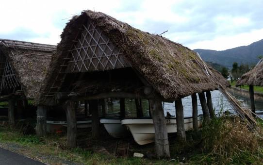 伊良積の船小屋