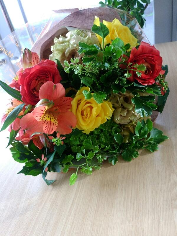 定年退職の日の花束