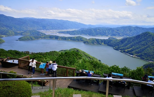 山頂からの三方五湖