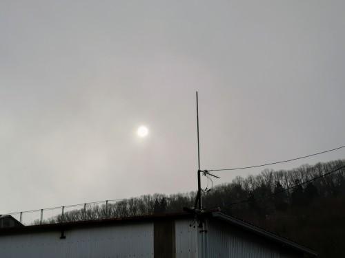 寒波前の空